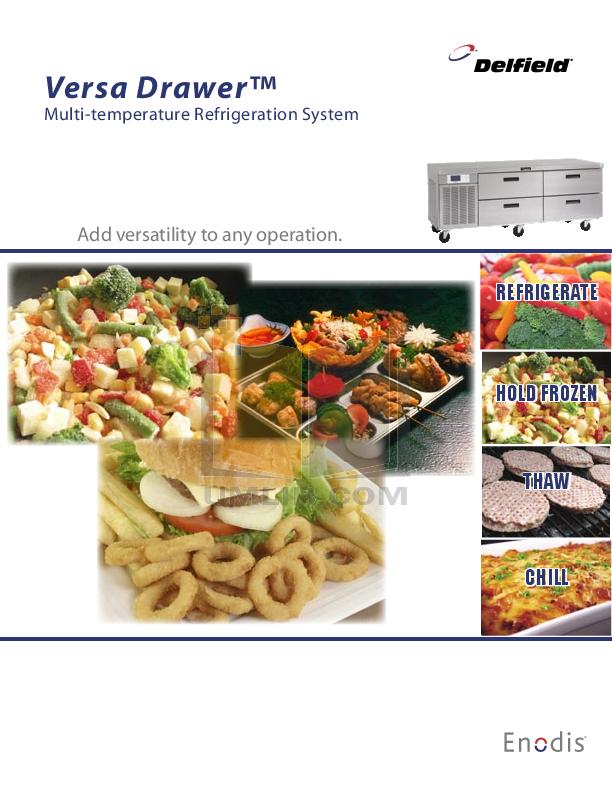 pdf for Delfield Refrigerator Versa Drawer manual